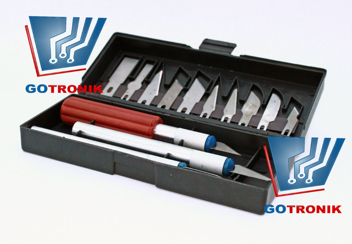 Nożyki modelarskie zestaw 13 sztuk SKALPEL