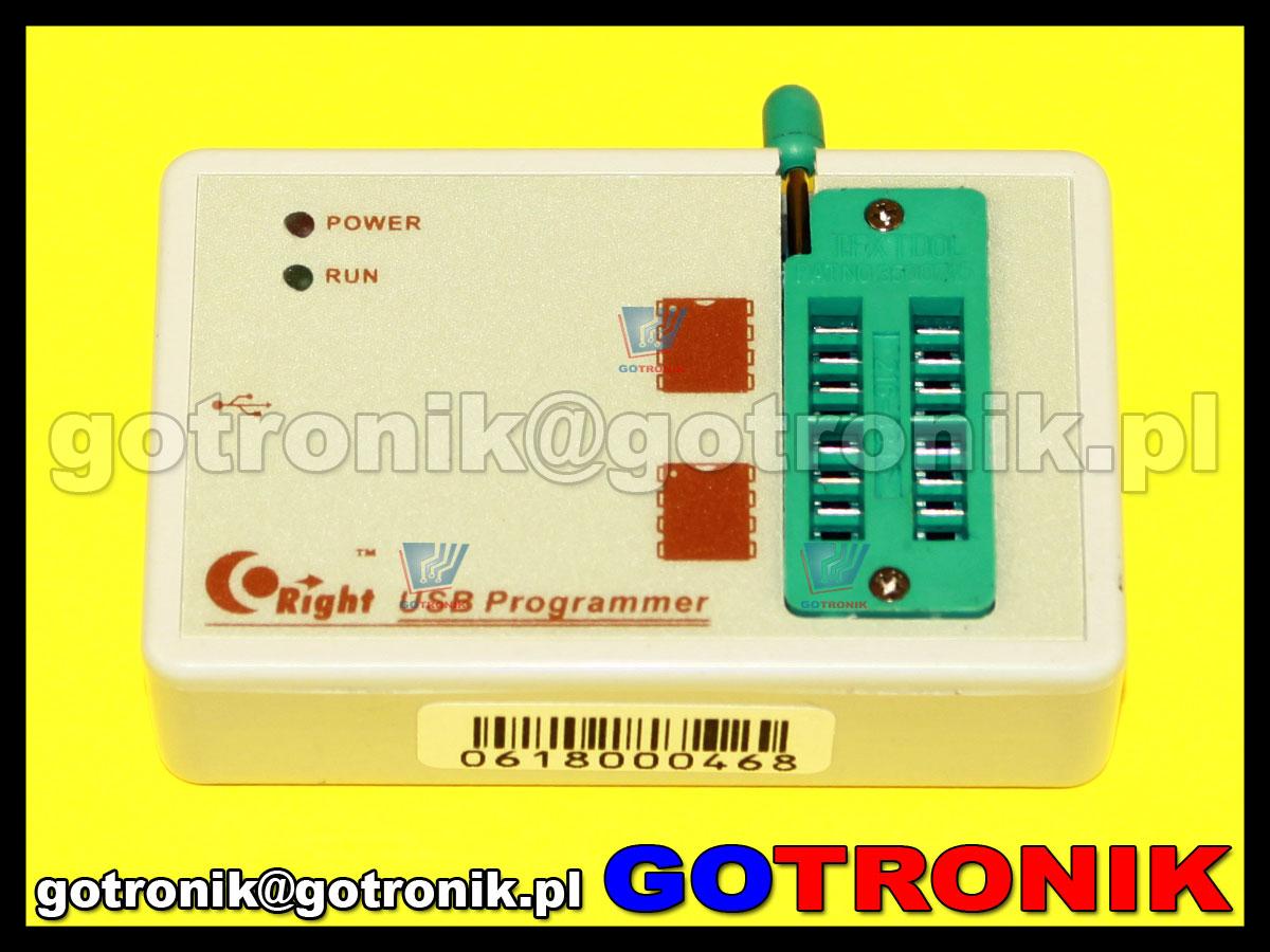 programator SkyPRO do pamięci szeregowych i2c, spi, microwire, data flash, HCS200, michrochip, keelog