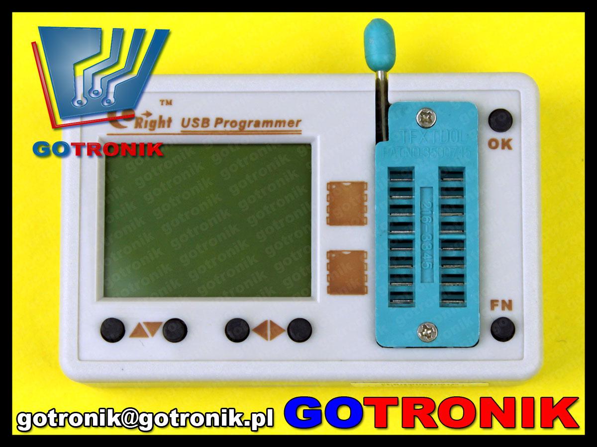 skyproii skypro2 programator pamięci szeregowych bios i2c spi microwire dip8 so8