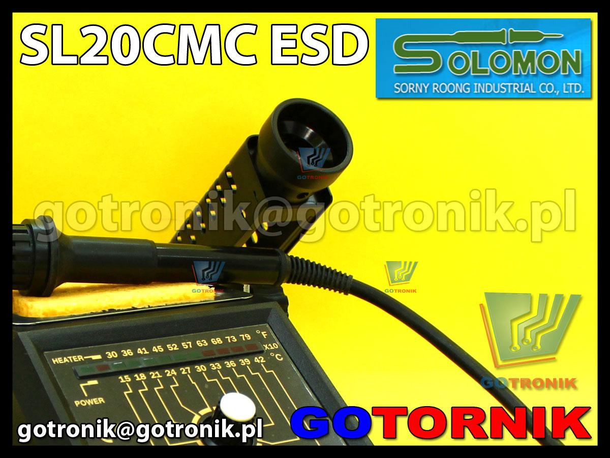SL20CMC w wersji ESD stacja lutowniczna produkcji SOLOMON