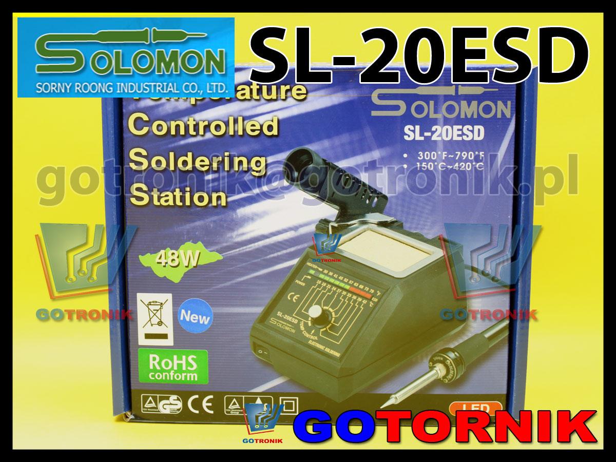Stacja lutownicza SL-20ESD Solomon
