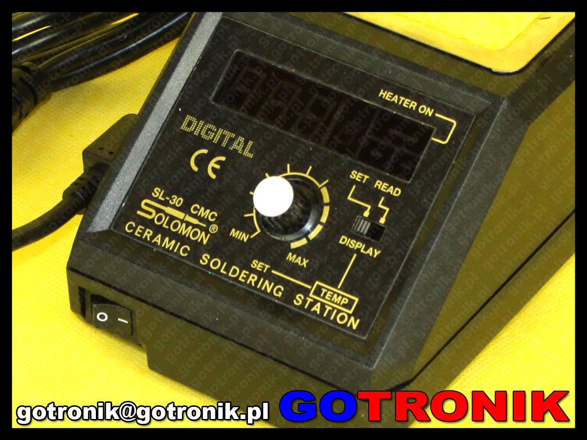 SL30CMC w wersji ESD stacja lutowniczna produkcji SOLOMON SL-30CMCESD