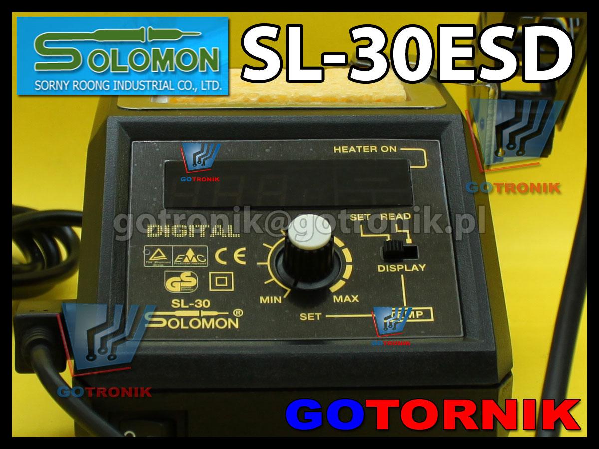 Stacja lutownicza SL-30ESD Solomon z cyfrowym wyświetlaczem temperatury