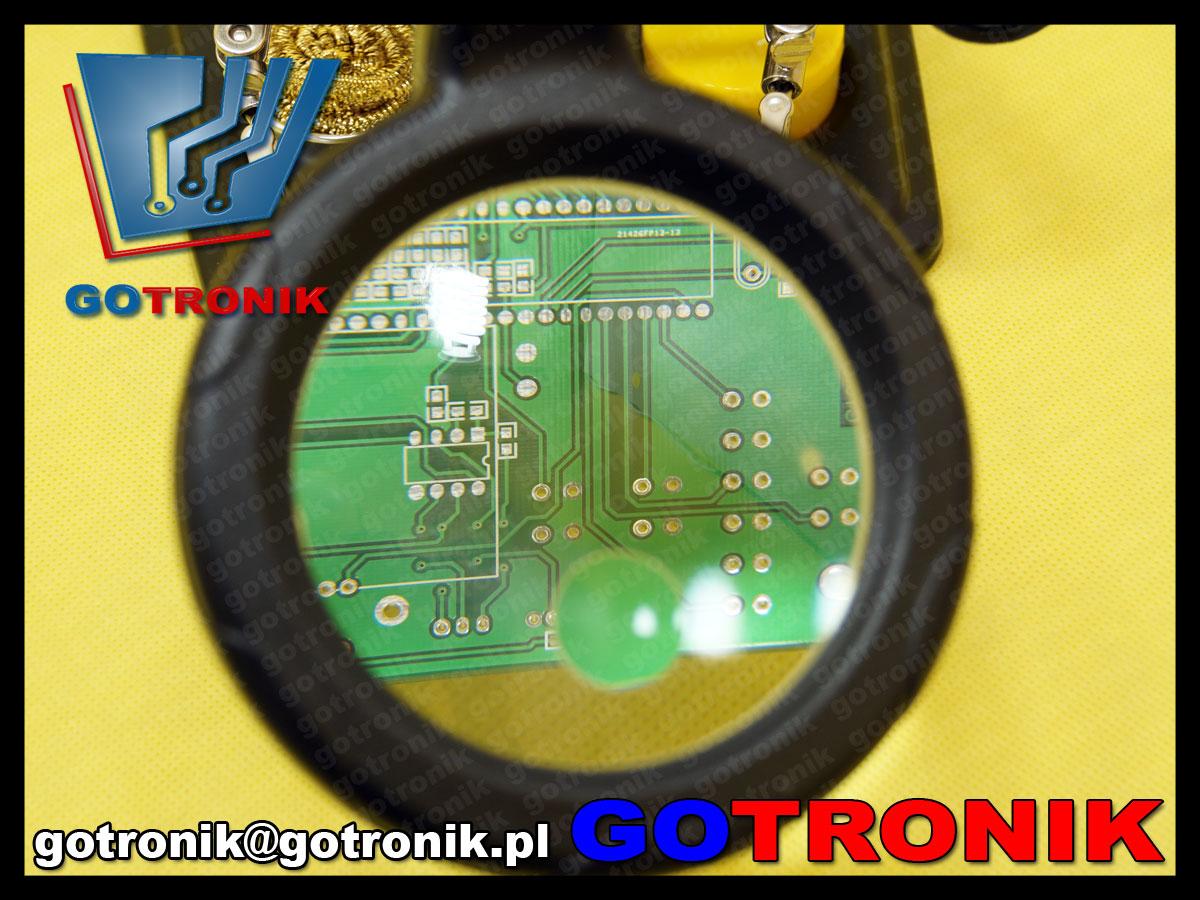 SN-396 Proskits lampa lupa trzecia ręka uchwyt led