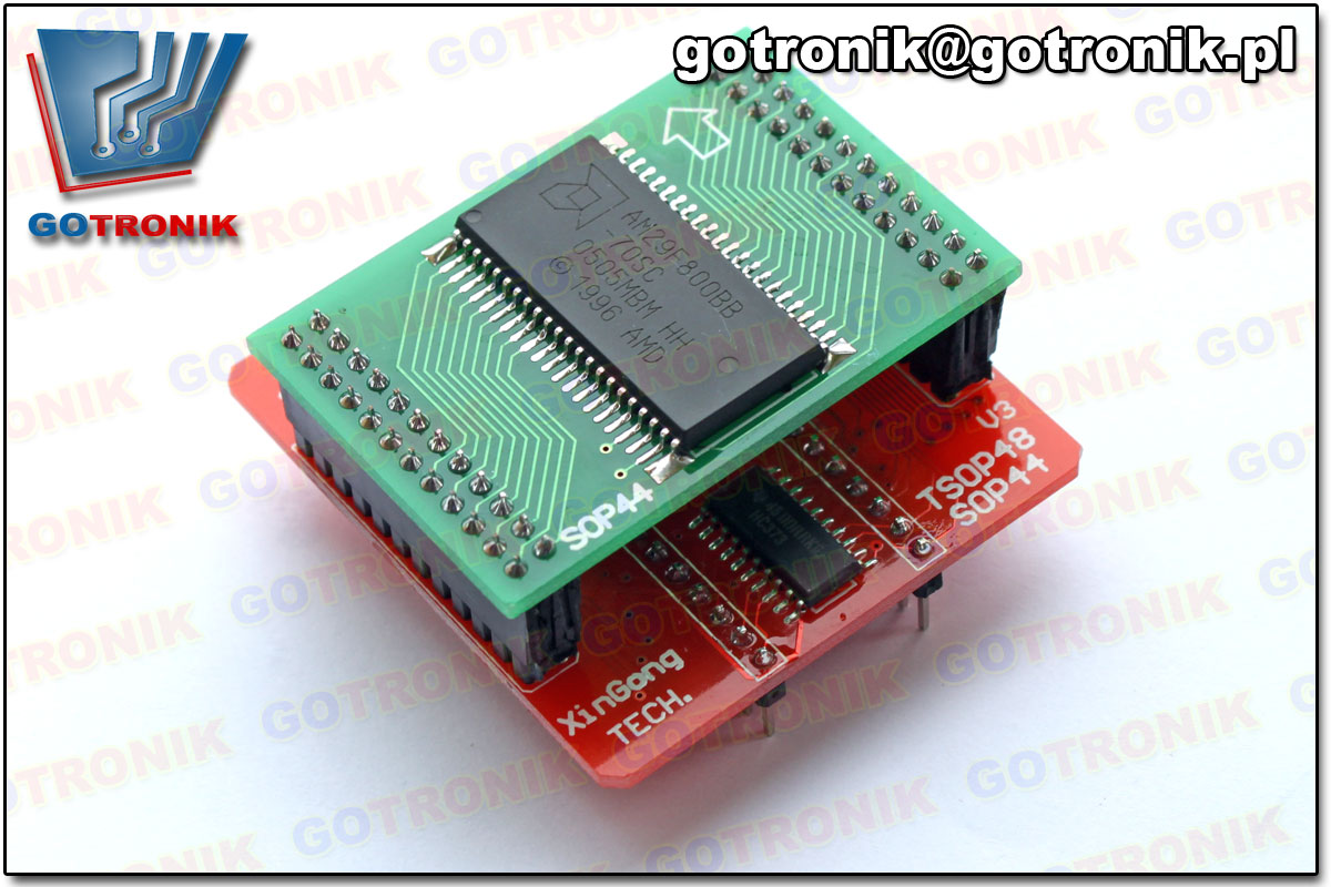 przykładowe zastosowanie adaptera SOP44 z programatorem TL866