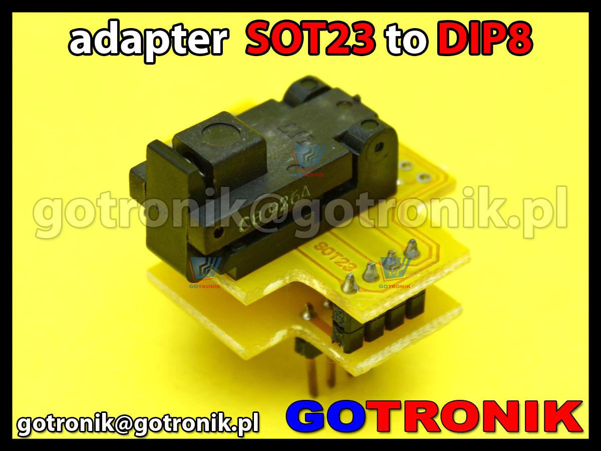 Adapter Sot23 To Dip8 Diy Sot 23 Dla Ukadw Pic10fxxx Pic10f200 Pic10f202 Pic10f204 Pic10f222 Itd