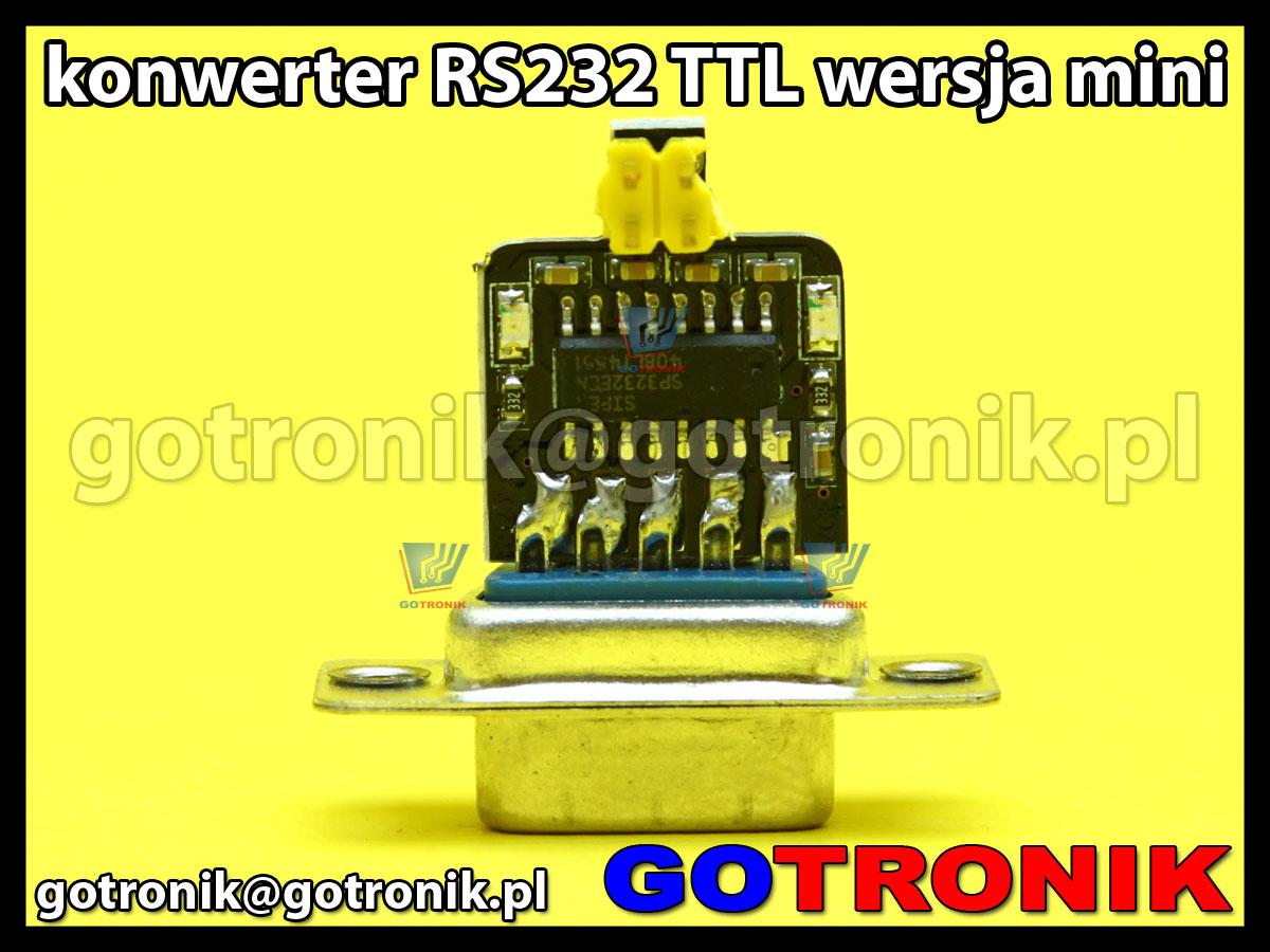 Konwerter RS323 TLL 3.3V lub 5V wersja mini SP3232EEN