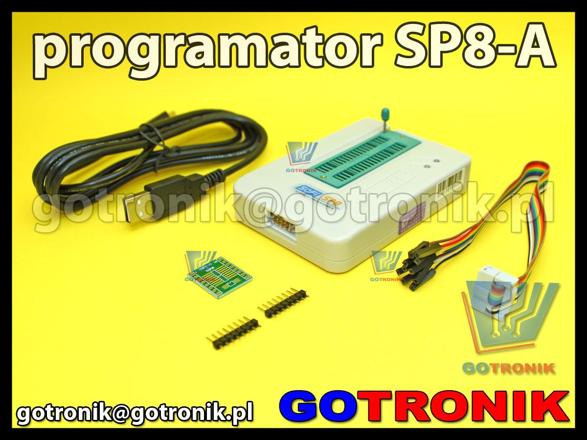 SP8-A programator pamięci szeregowych SPI serial eeprom i2c SP8A USB