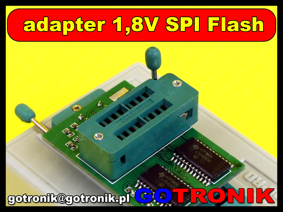 Adapter SPI Flash 1,8V do programatorów