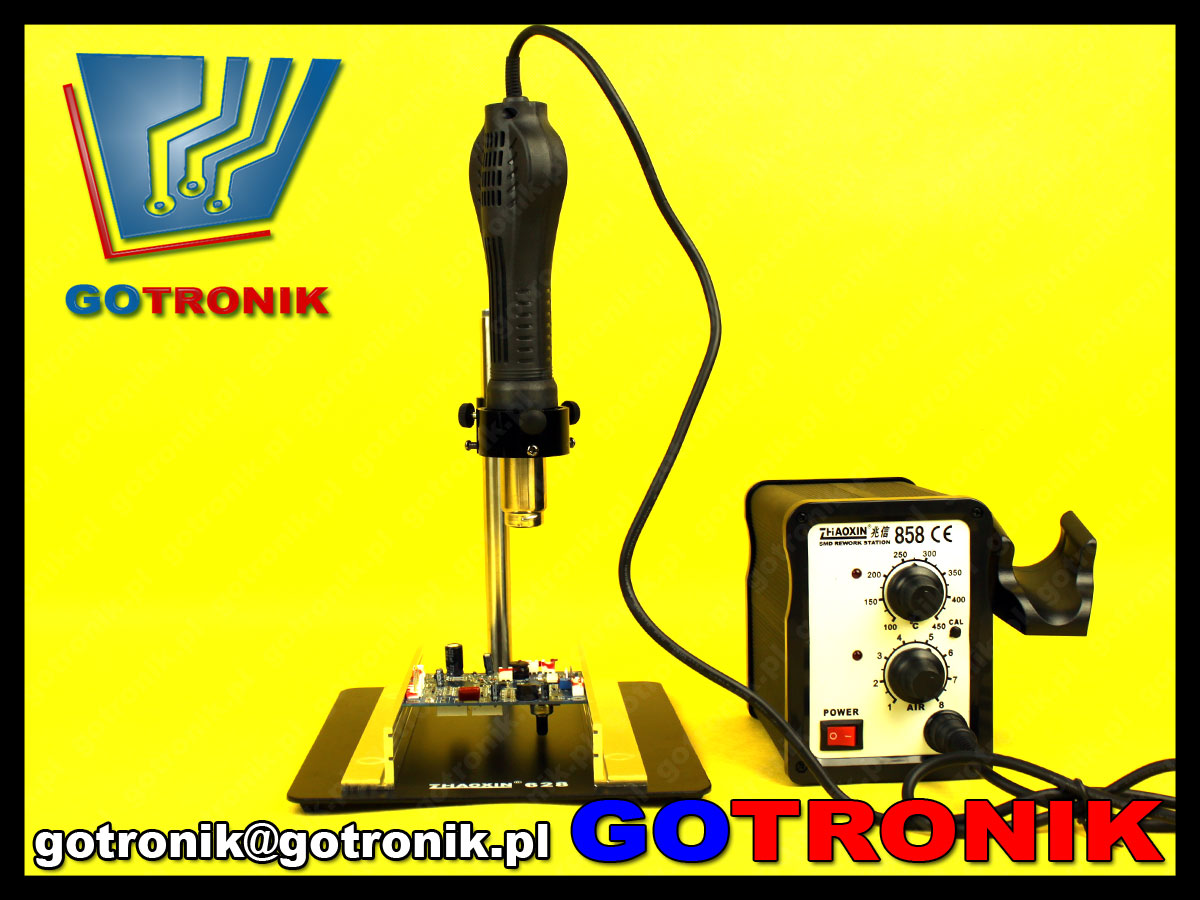 Platforma naprawcza z uchwytem do płytek PCB + statyw do kolby