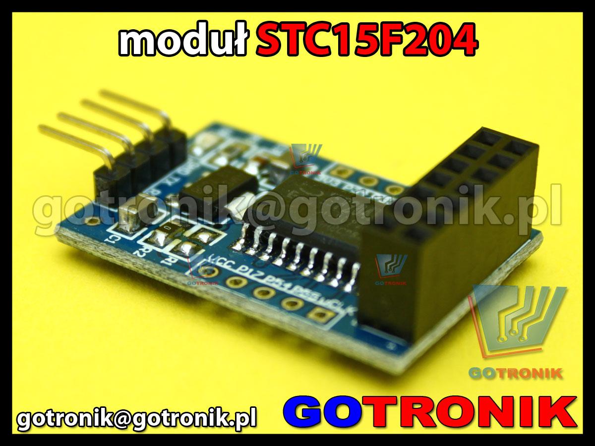 moduł z mikrokontrolerem STC15F204EA do układu NRF905