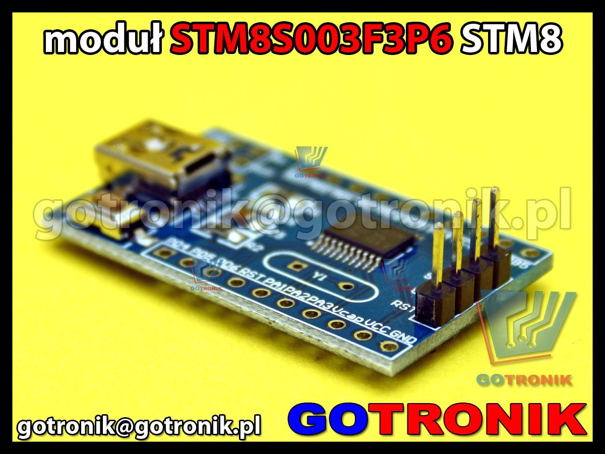 STM8S003F3P6 STM8 mini moduł z USB i stabilizatorem napięcia AMS1117-3.3 V