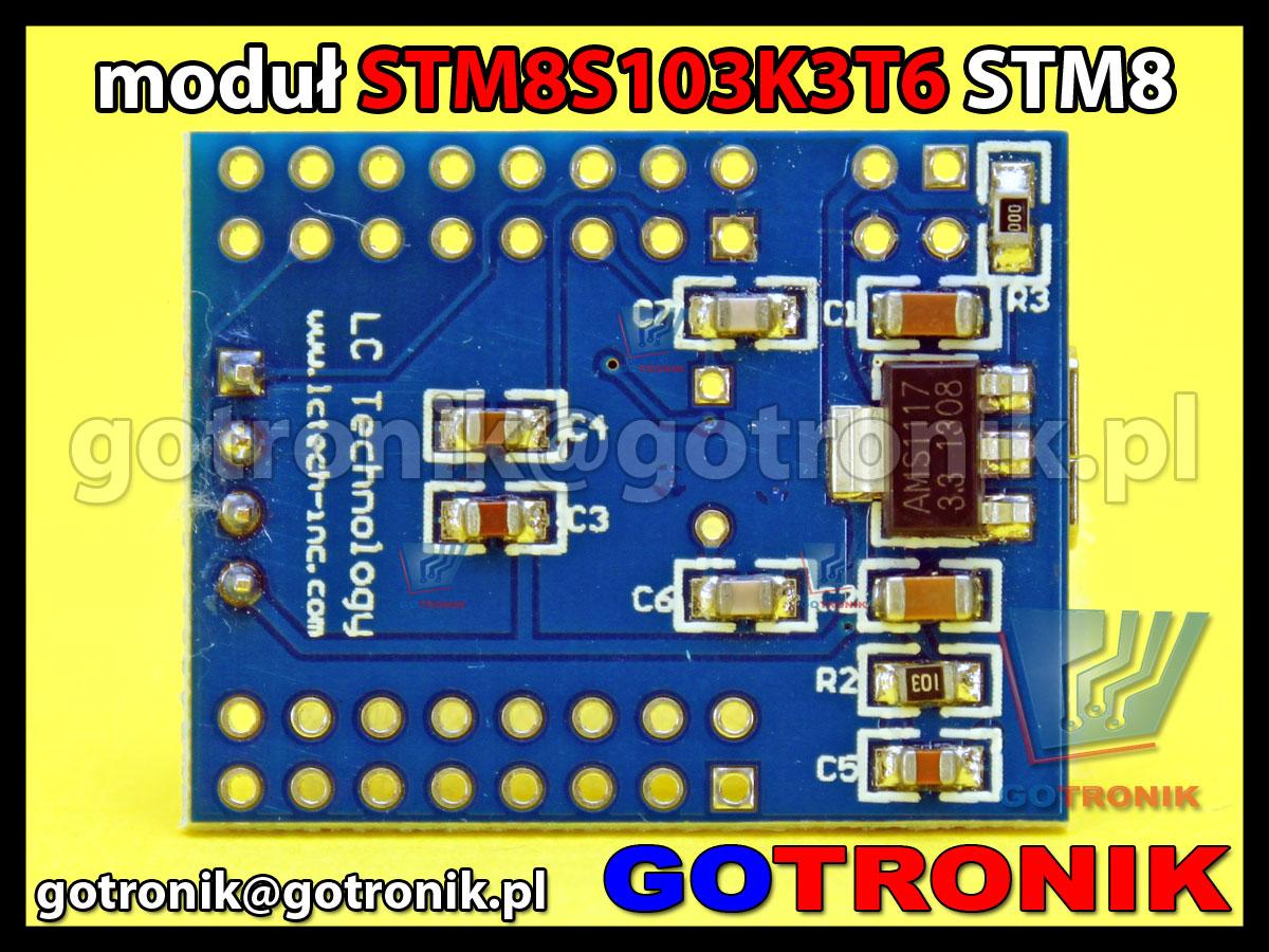 Mini moduł z STM8S103K3T6 STM8