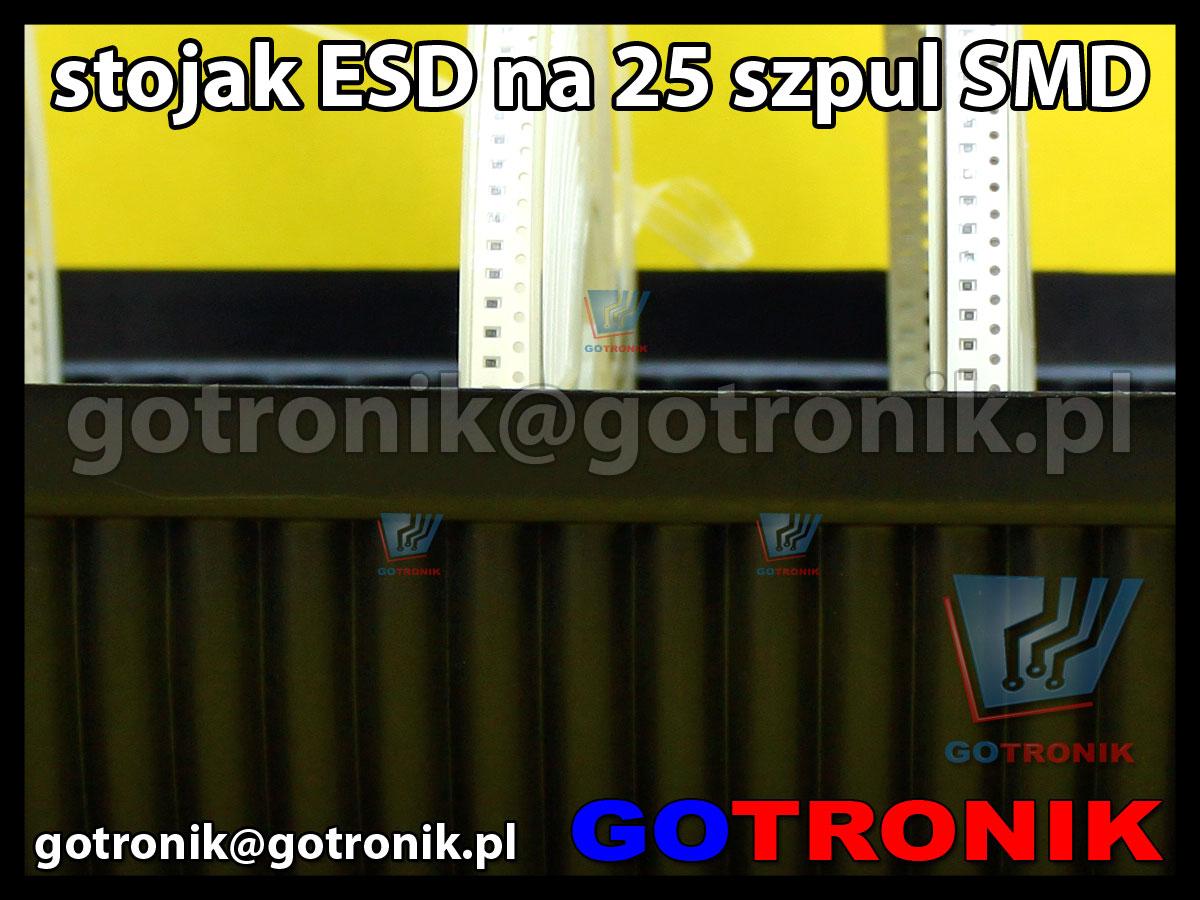 Stojak ESD na szpule SMD 25 szpuli