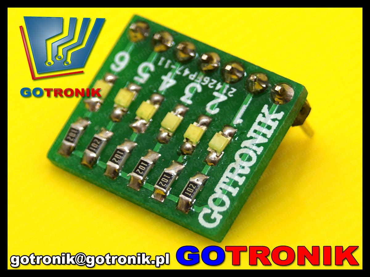 sygnalizator stanu portu mikroprocesora LED
