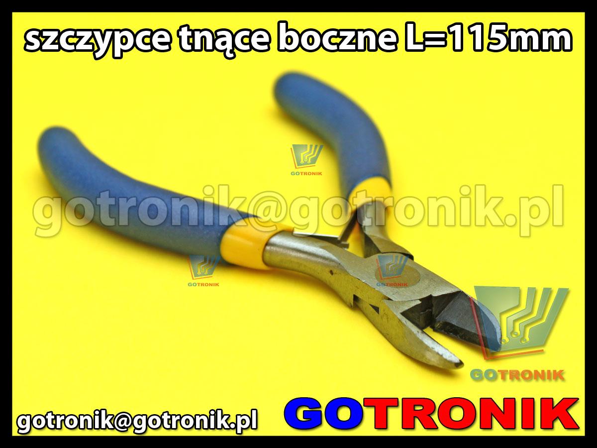 Szczypce tnące boczne L=115mm obcinaczki obcinarki