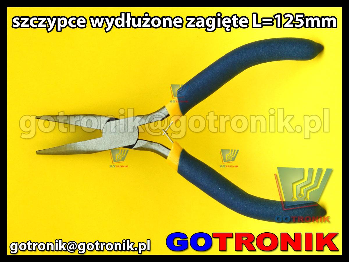 szczypce zagięte płaskie wydłuzone o długości L=150mm do chwytania i gięcia