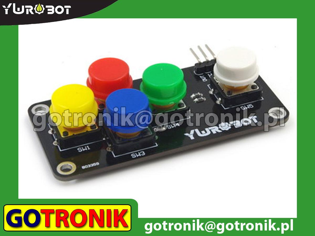 Moduł klawiatury analogowej 5 przycisków tact-switch