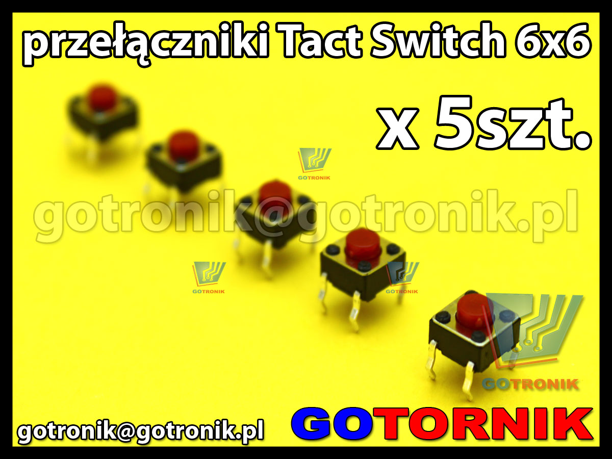 Tact Switch 6x6 h 5mm x5szt.