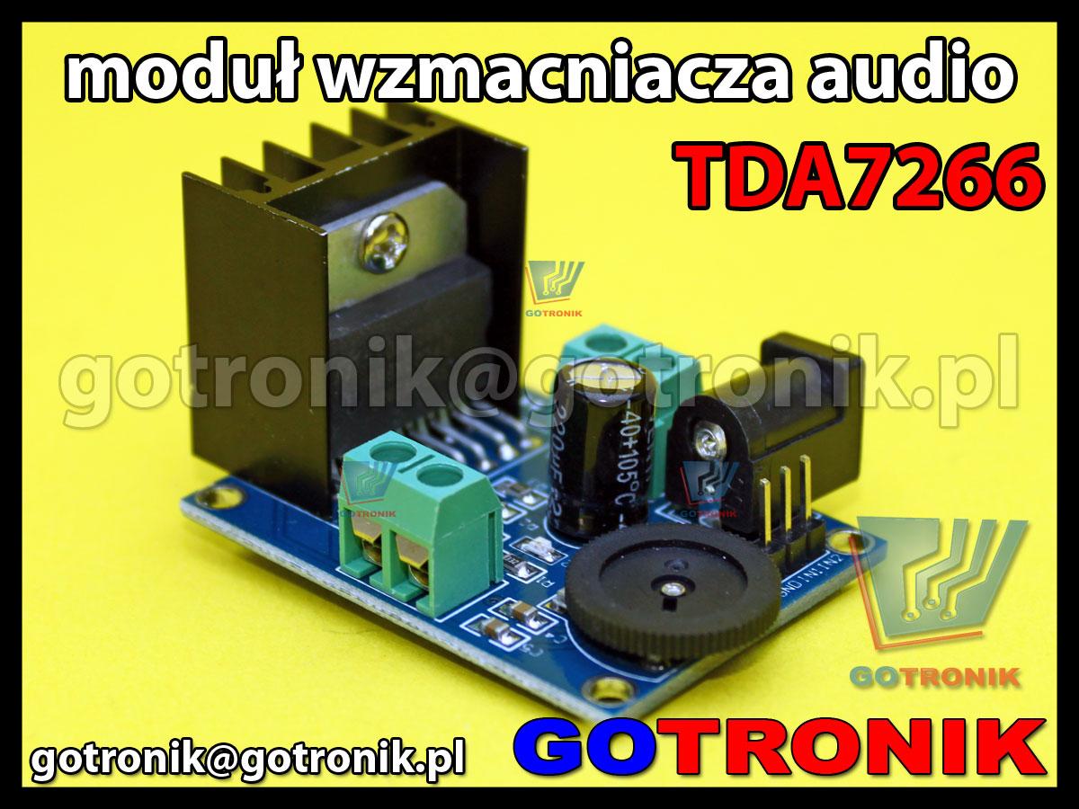Moduł wzmacniacza mocy audio TDA7266 2x7W