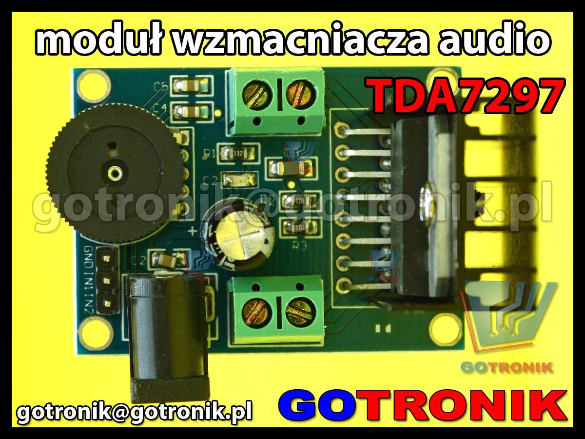 moduł wzmaczniacza mocy audio TDS7297 moc wyjściowa 2x15W