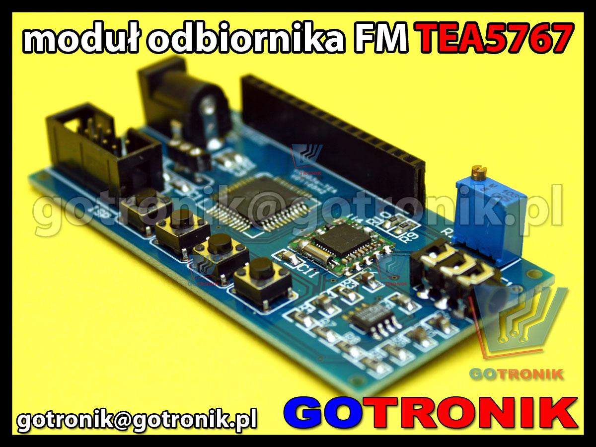 Moduł uruchomieniowy Atmega32A z odbiornikiem radiowym FM TEA5767