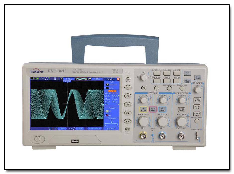 Oscyloskop cyfrowy DST1102B produkcji Tekway