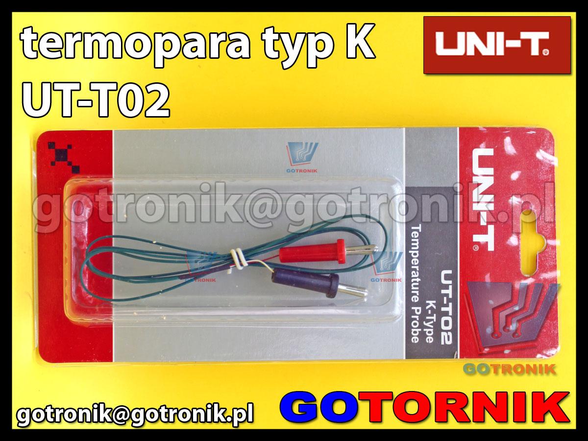 Termopara typu K produkcji UNI-T UT-T02 zakończona banankami