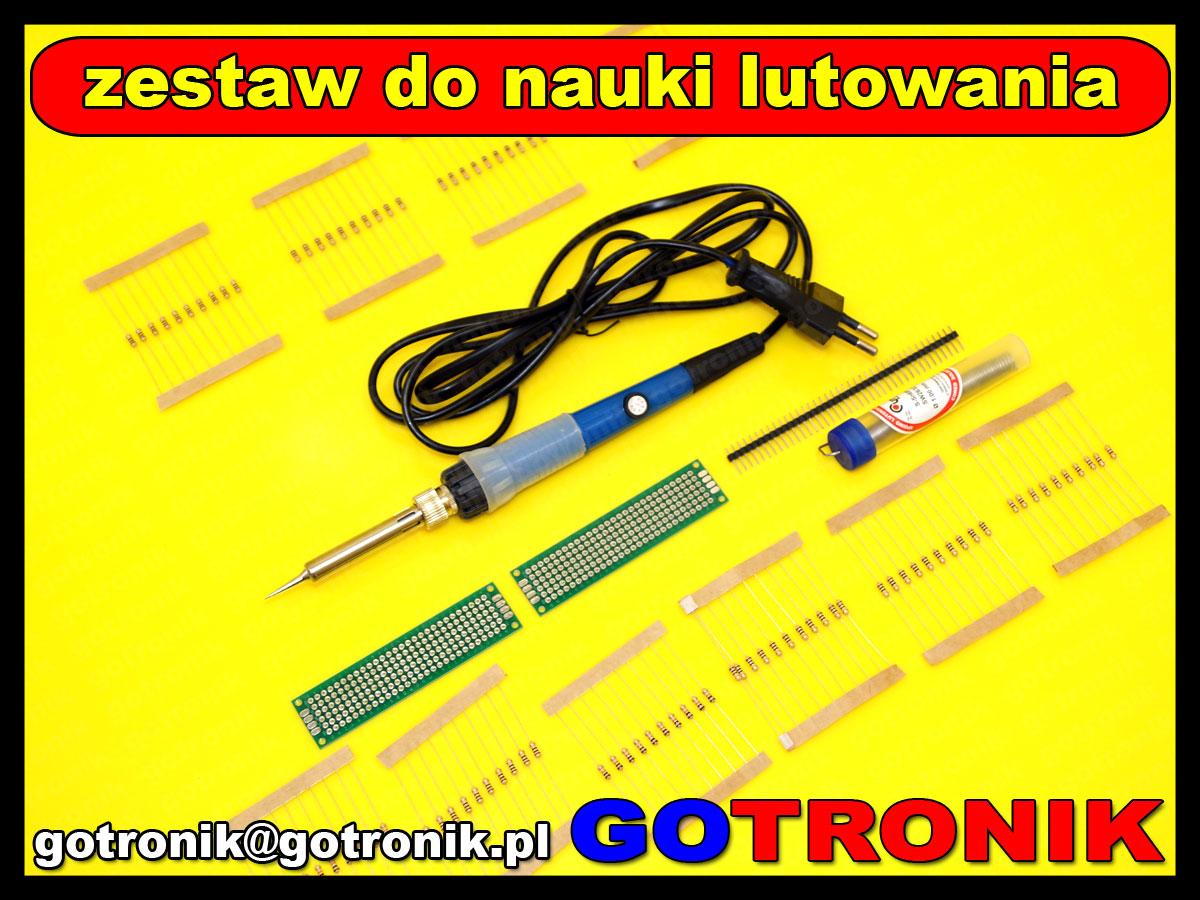 ELEK-059 zestaw startowy do nauki lutowania elementów elektronicznych THT ELEK059