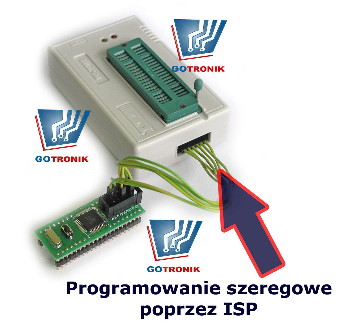 Programowanie szeregowe za pośrednictwem złącza ISP procesra ATmega32