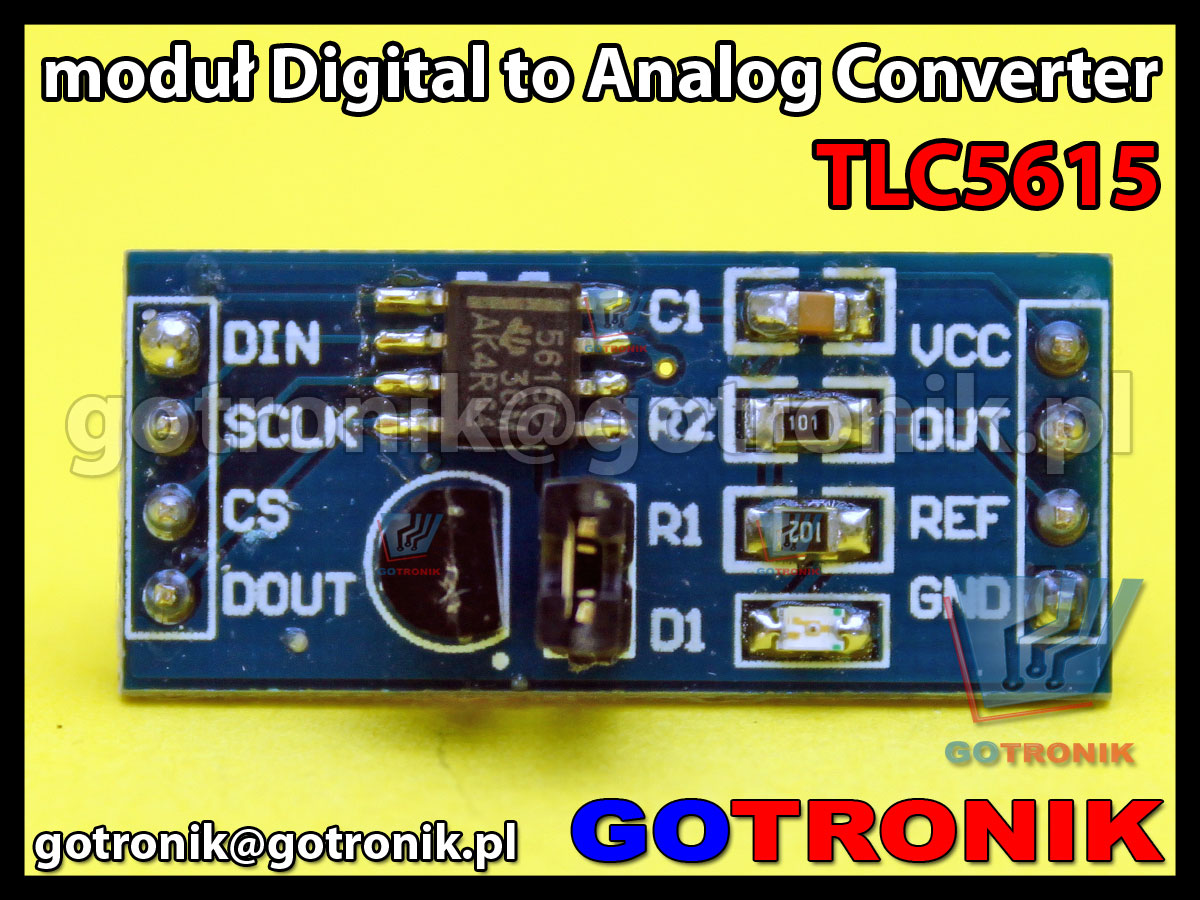 moduł TLC5615 DAC 10-bit Digital to Analog Converter