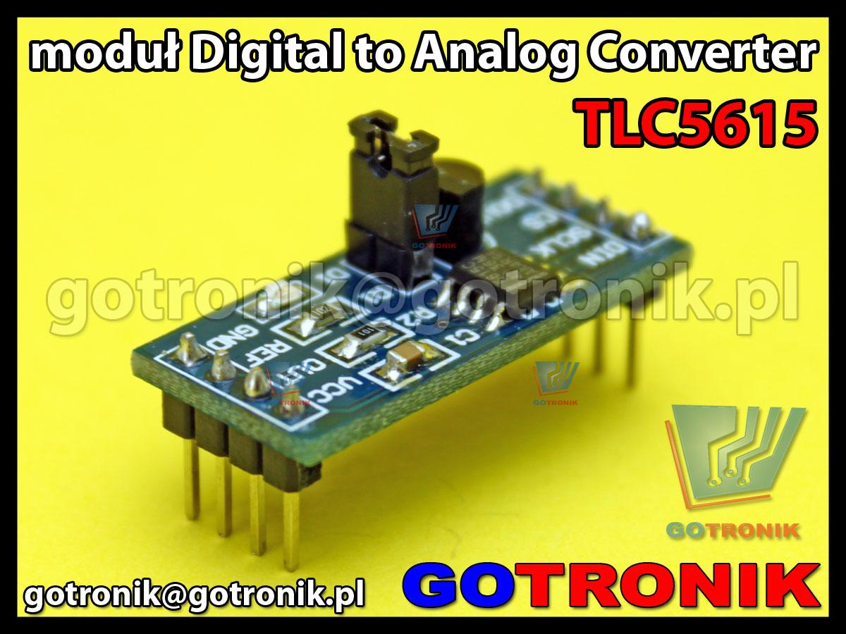 moduł TLC5615 DAC 10-bit Digital to Analog Converter