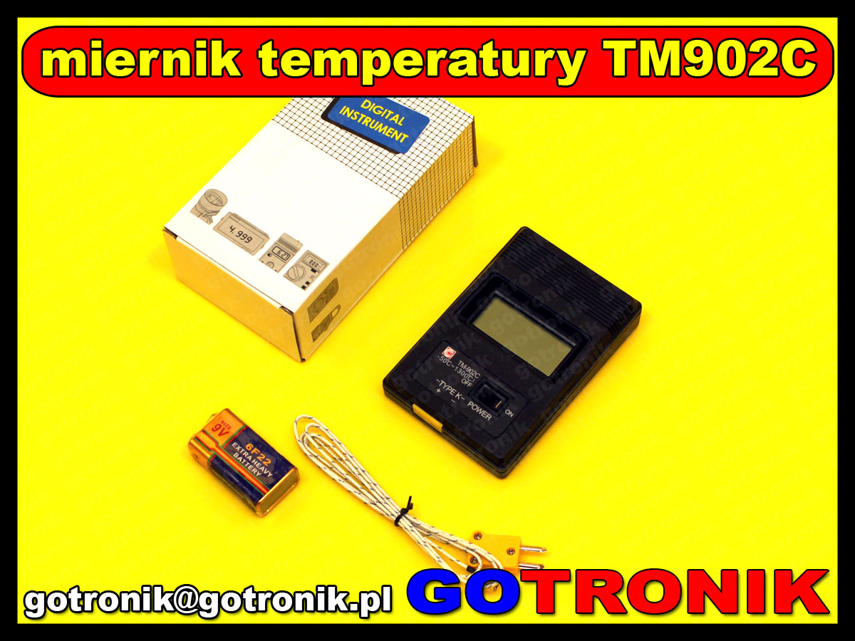 TM-902C TM902C miernik temperatury termopara typ K