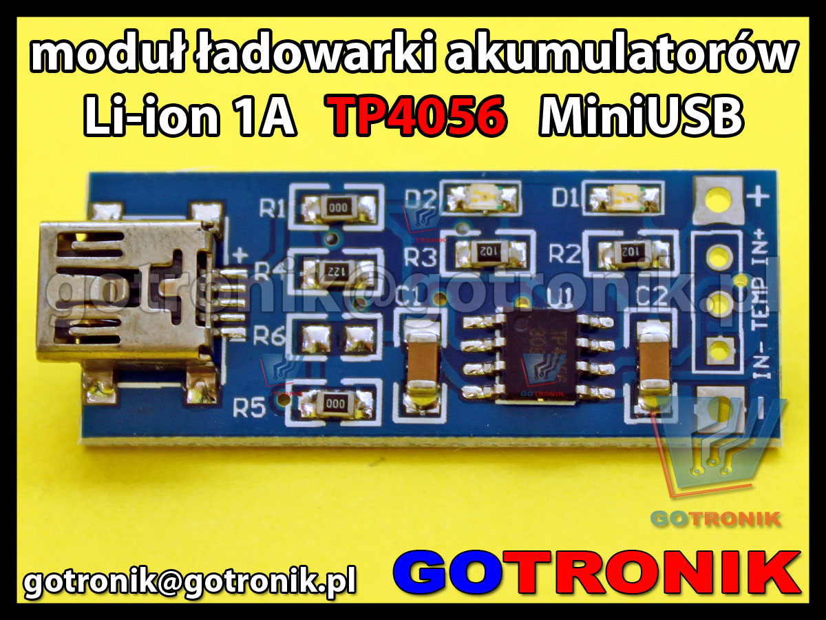 Moduł ładowarki akumulatorów Li-ion TP4056 1A