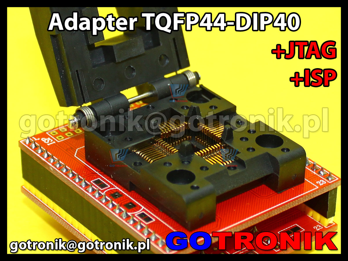 Adapter TQFP44 to DIP40 +ISP + JTAG