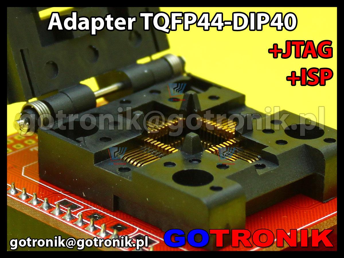 Adapter TQFP44 to DIP40 +ISP + JTAG