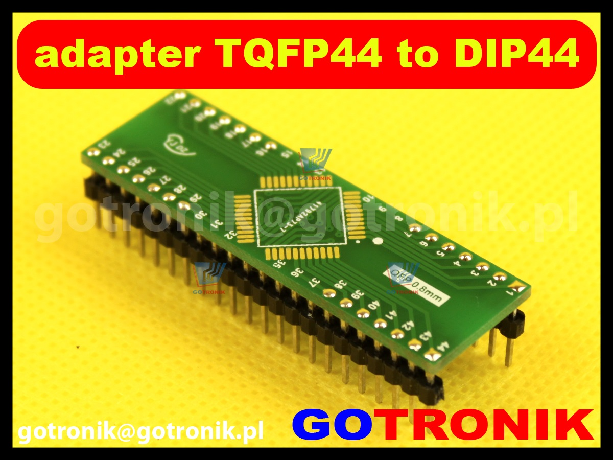 Adapter TQFP44 to DIP44