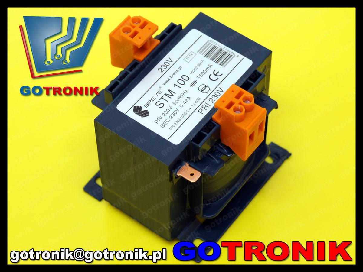 STM100 Breve transformator separacyjny 230V