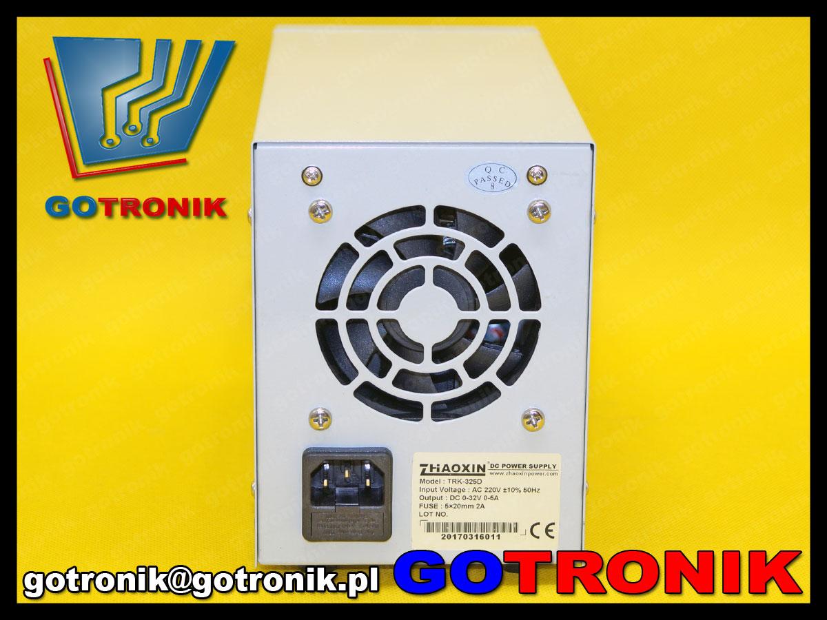 TRK-325D laboratoryjny zasilacz regulowany DC 0-32V 5A Zhaoxin impulsowy