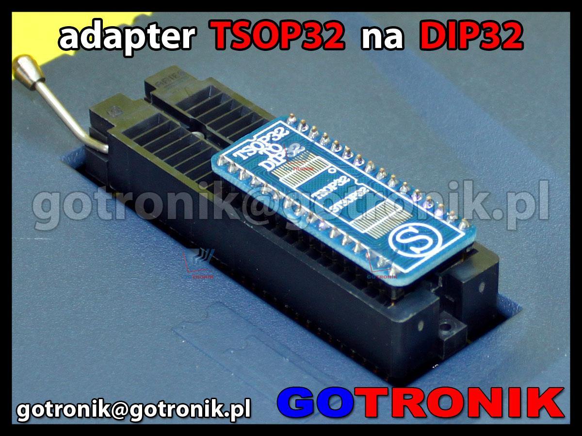 adapter TSOP32 na DIP32 raster 0.5mm wersja do lutowania wymiar 8x14mm 8x20mm