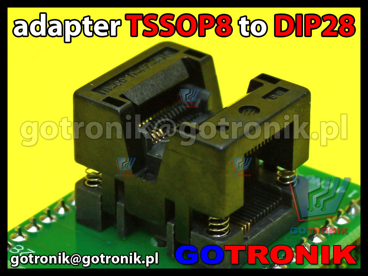 adapter ssop8 tsop8 tssop8 0.65mm 0,65mm to dip28 cnv-ssop28-dip ots-28-0.65-01