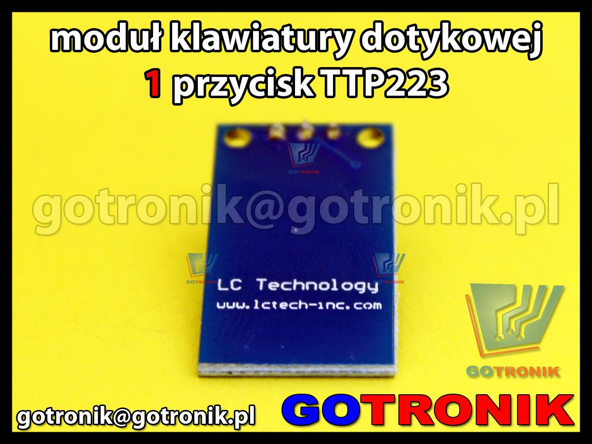Moduł klawiatury dotykowej 1 przycisk TTP223