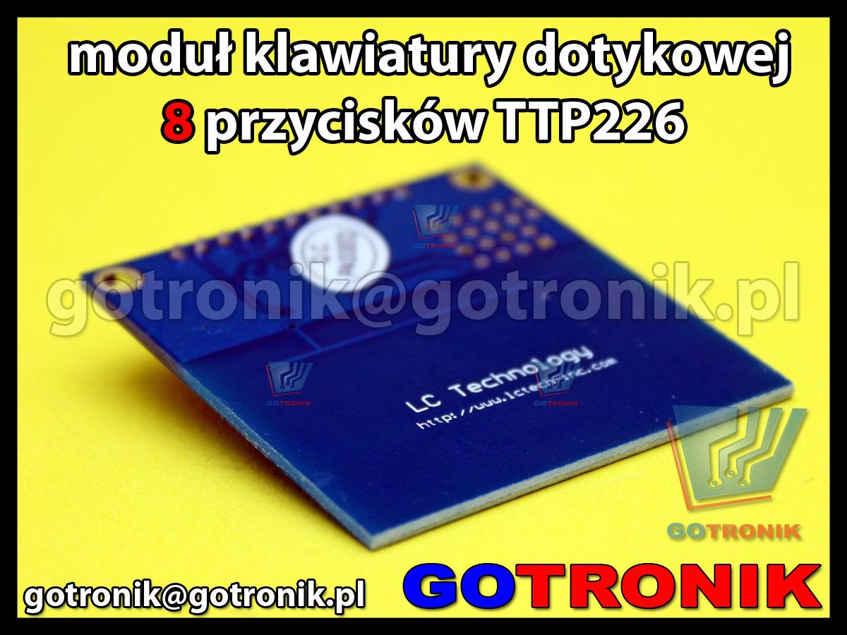 moduł klawiatury dotykowej 8 przyciskowej TTP226