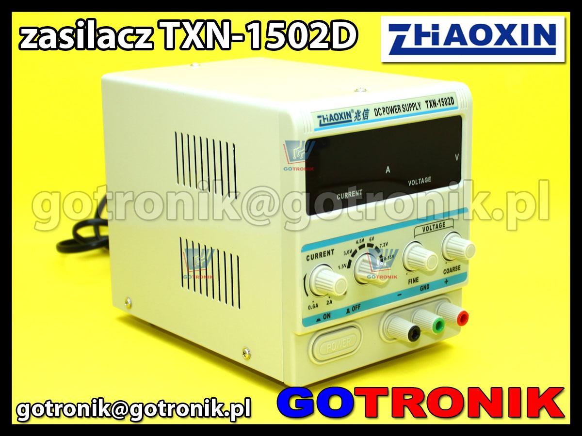 TXN-1502D Zhaoxin zasilacz laboratoryjny 15V 2A regulowany serwisowy