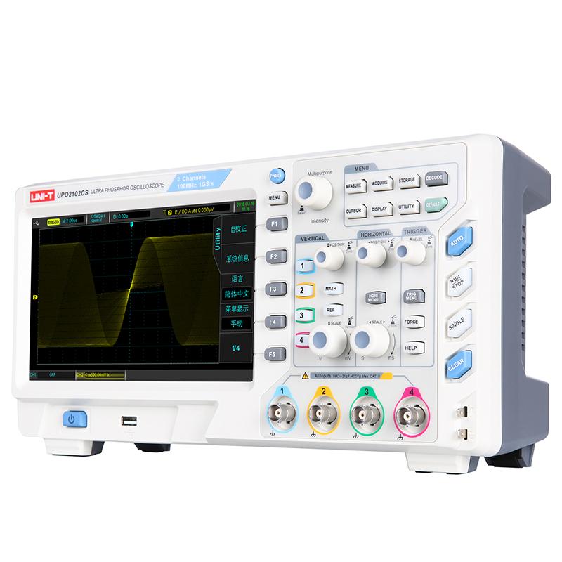 UPO2102CS Ultra Phosphor oscyloskop cyfrowy dwukanałowy 100MHz uni-t