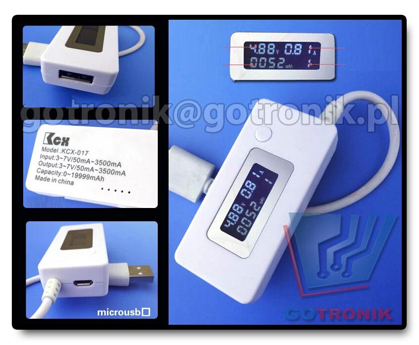 Miernik napięcia i prądu portu USB CHARGER Doctor
