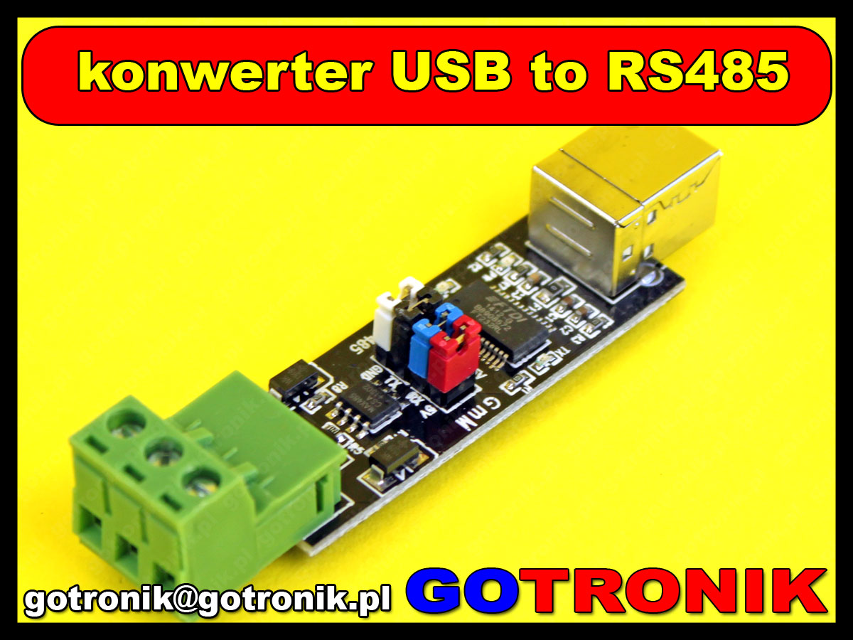 USB 2.0 to TTL RS485 Serial Converter Adapter FTDI FT232RL SN75176 MAX485