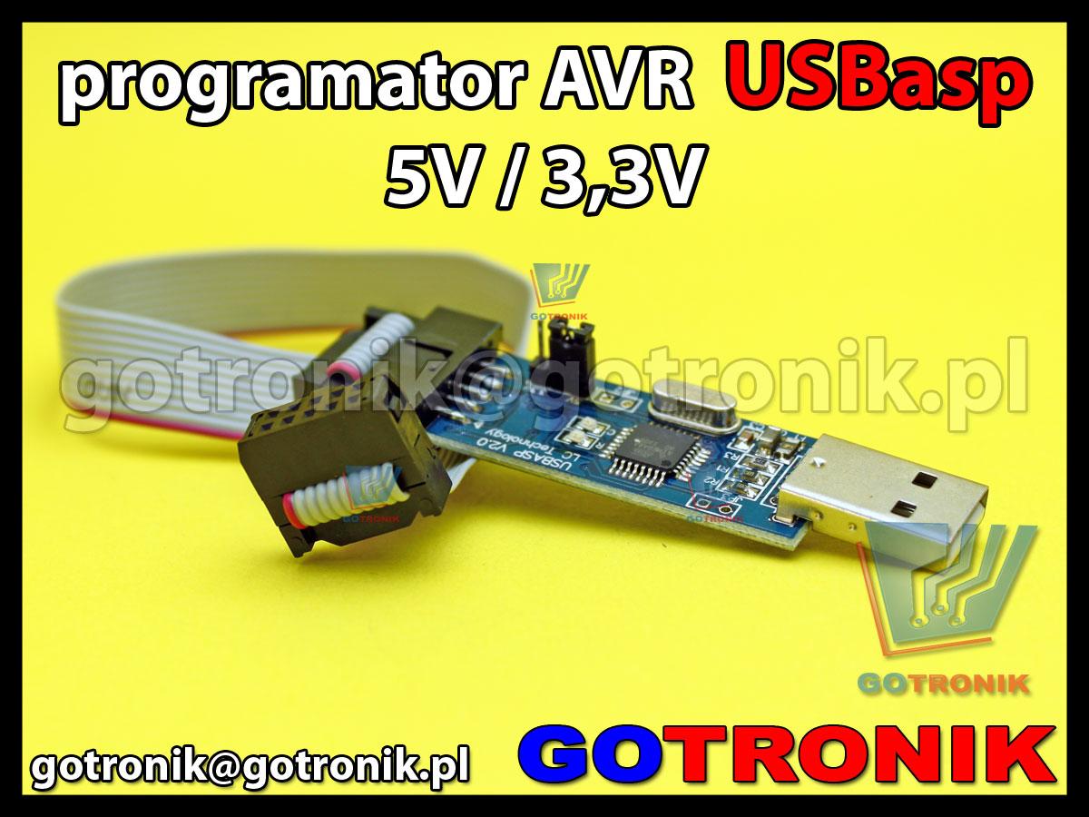 Programator ISP USBasp dla mikrokontrolerów AVR 5,0V/3,3V