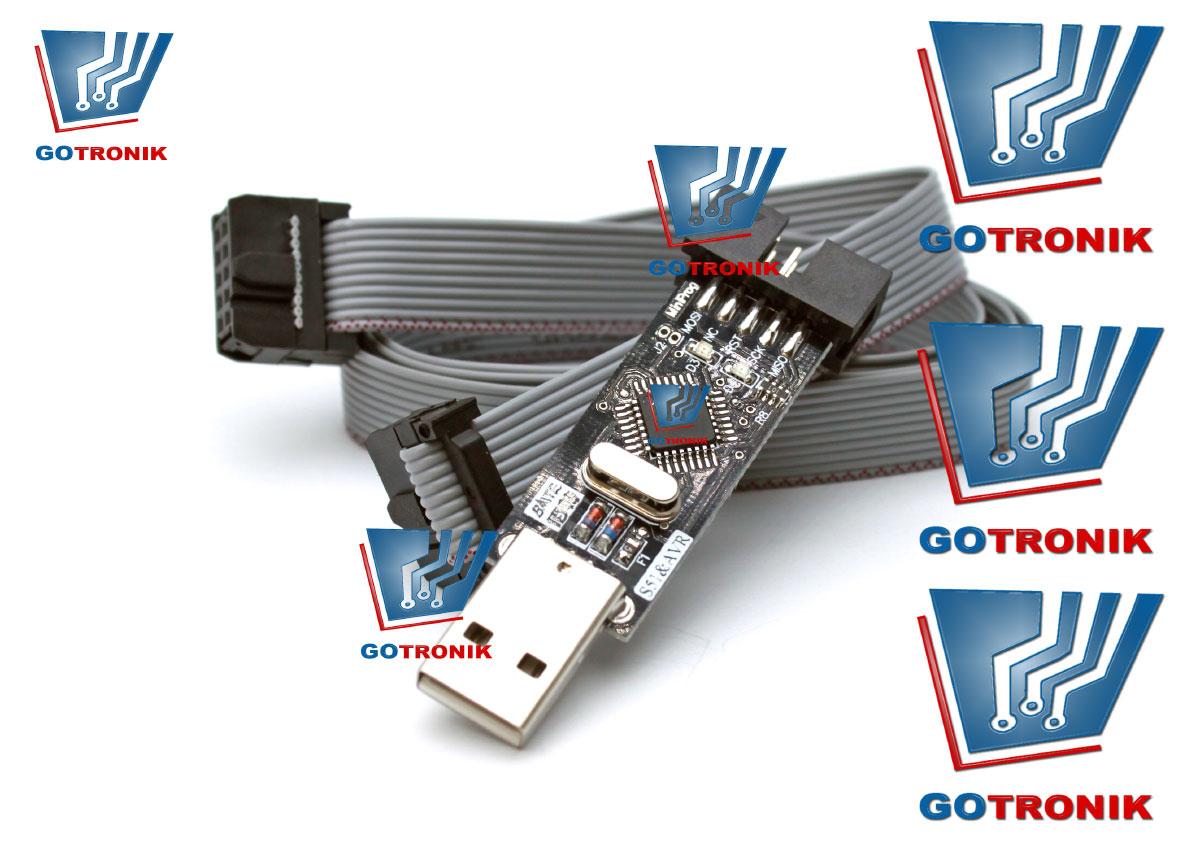 Programator USBasp AVR ATMEL ISP + taśma GOTRONIK