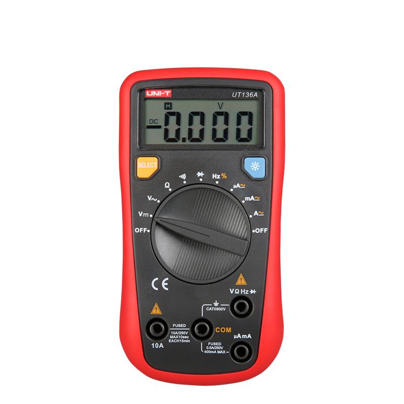 UT136A, unit, multimetr, multimetr cyfrowy, multimetr uniwersalny, miernik cyfrowy, miernik napięcia, miernik prądu, multimetr z cyfrowym wyświetlaczem, multimetr cena,